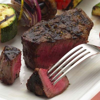 "<p>Just because filet mignon sounds fancy doesn't mean it won't pair well with a bargain-basement bottle. Reach for a medium-bodied Merlot from California: a fruity varietal that won't break the bank.</p><br /> <p><b>Pictured Recipe: </b><a href=""/recipefinder/grilled-filet-mignon-vegetable-kebabs-recipe-5344"" target=""_blank""><b>Grilled Filet Mignon with Vegetable Kebabs</b></a></p> <p><b>More Ideas for Filet Mignon:</b><br /> <a href=""/recipefinder/texas-toasts-filet-mignon-watercress-herb-butter-recipe-5529"" target=""_blank""><b>Texas Toasts with Filet Mignon, Watercress, and Herb Butter</b></a>, <a href=""/recipefinder/filet-mignon-tomato-topping-2887"" target=""_blank""><b>Filet Mignon with Tomato Topping</b></a>, and <a href=""/recipefinder/herb-coated-filet-mignon-recipe-5240"" target=""_blank""><b>Herb-Coated Filet Mignon</b></a><br />  <b>Try These Bottles:</b> Markham Merlot and St. Francis Merlot"