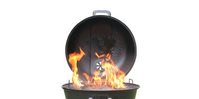 """For steaks, chops, and burgers, hold your hand three inches above the grill grate and start counting, """"One Mississippi, two Mississippi, etc."""" If """"ouch"""" comes at two or three Mississippi, your grill is properly preheated."""