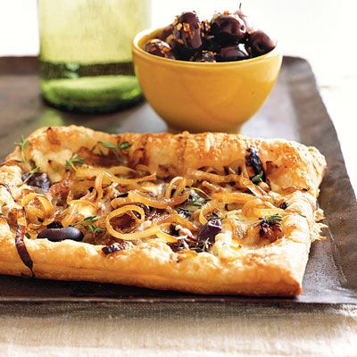 "<p>Make this fresh and delicious dish from scratch now — then freeze it to savor later at the party. Cut into small squares, this tart becomes an elegant handheld appetizer.</p><br /><p><b>Recipe: <a href=""/recipefinder/caramelized-onion-gruyere-tarts-3172"" target=""_blank"">Caramelized-Onion and Gruyère Tarts</a></b></p>"