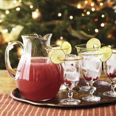 """Lower the bill at your holiday party by offering one sensational, seasonal drink: Rudolph-red pomegranate margaritas, premixed by the pitcherful.<br /><br /><b>Recipe: <a href=""""/recipefinder/pomegranate-margaritas-recipe"""" target=""""_blank"""">Pomegranate Margaritas</a></b>"""