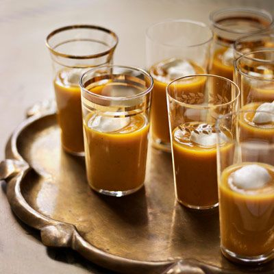 "<p>Skip the bowls and serve this creamy squash soup in pretty juice glasses.</p><br /><p><b>Recipe: <a href=""/recipefinder/roasted-winter-squash-soup-recipe"" target=""_blank"">Roasted Winter Squash Soup</a></b></p>"