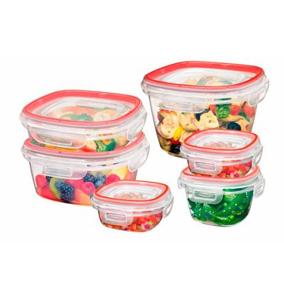 """For packing up <a href=""""/recipes/cooking-recipes/leftover-recipes"""" target=""""_blank""""><b>leftovers</b></a> after dinner, Rubbermaid Lock-Its are our top choice. They're made of plastic and have gaskets in the lids that lock onto the bases on all four sides. Because they excel at keeping air out, they'll prevent <a href=""""/recipes/cooking-recipes/lasagna-recipes"""" target=""""_blank""""><b>lasagna</b></a> from becoming dry or winding up tasting like the pineapple stashed next to it. Plus, they can stand up to the rigors of everyday living. When filled with frozen water, Lock-Its were one of the only containers we tested that didn't dent or break when dropped from countertop height. To prevent the all-too-common search for the right lid, the tops snap onto the bottoms of the containers when they're stashed away. Available in 1.25-cup to 2.5-gallon sizes, and in 12-, 20-, and 30-piece sets ($14 to $23). (<a href=""""http://www.rubbermaid.com"""" target=""""_blank"""">rubbermaid.com</a>)"""