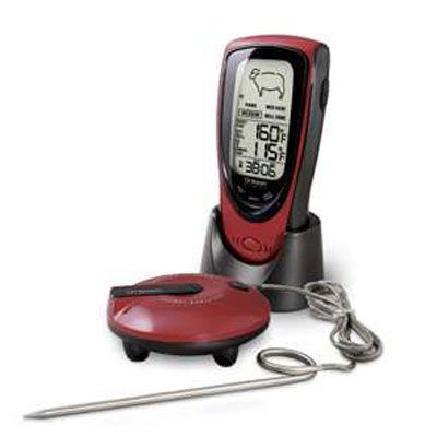 "<p>Grilling geeks will  appreciate the accuracy of Oregon Scientific's Talking Meat Thermometer. If for some reason his grill gets a little too smoky, this audible gadget will come in handy.  (<a href=""http://www.walmart.com/ip/Oregon-Scientific-Grill-Right-Wireless-Talking-BBQ-Oven-Thermometer/11274323?sourceid=1500000000000003260350&ci_src=14110944&ci_sku=11274323"" target=""_blank"">walmart.com</a>, $59.99)</p>"
