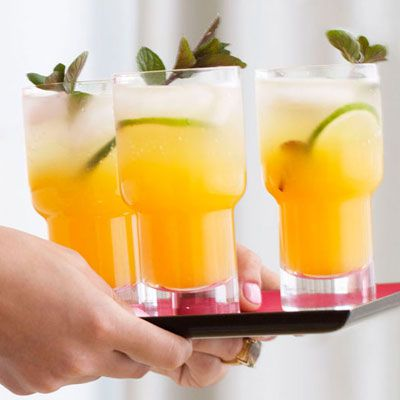"<p>Passion fruit mojito mix and white rum make a casual cocktail your guests will enjoy.</p><p><b>Recipe: <a href=""http://www.delish.com/recipefinder/passion-fruit-mojitos"" target=""_blank"">Passion Fruit Mojitos</a> </b></p>"