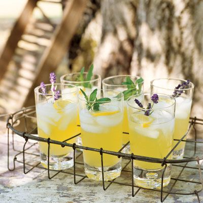 "<p>A perfect accompaniment to any alfresco lunch, this white-wine-based drink is full of peaches, raspberries, and herbs.</p> <p><b>Recipe: <a href=""http://www.delish.com/recipefinder/noon-wine"" target=""_blank"">Noon Wine</a> </b></p>"
