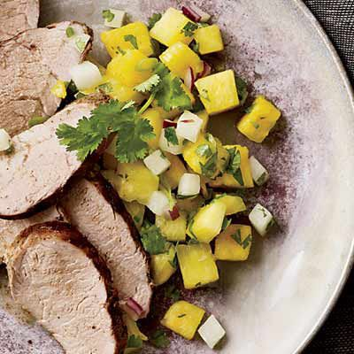 """This sweet-and-tart salsa goes great with salty tortilla chips for a summer picnic. But it also pairs nicely with the <a href=""""/recipefinder/jerk-pork-tenderloin-pineapple-salsa-recipe-fw0610"""" target=""""_blank""""><b>Jerk Pork Tenderloin</b></a> pictured here. Plus, it's rich in immune-boosting vitamin C and the essential mineral manganese. The crunchy jicama delivers lots of fiber but not many calories.<br /><br /><b>Recipe:</b> <a href=""""/recipefinder/pineapple-jicama-salsa-recipe-fw0610"""" target=""""_blank""""><b>Pineapple-Jicama Salsa</b></a>"""