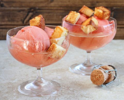 "<p>We're pretty sure that while you eat this, you're completely entitled to sing, ""I'm so fancy, you already know!""</p> <p><strong>Get the recipe from <a href=""http://www.dessertfortwo.com/2013/01/champagne-sundaes-with-toasted-pound-cake-croutons/"" target=""_blank"">Dessert for Two</a>.</strong></p>"