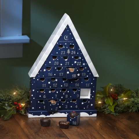 <p>This wintry advent calendar is fill with handcrafted chocolate truffles and can be reused year after year.</p>