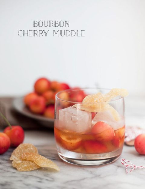 "Bourbon Cherry Muddle  <p><strong>Get the recipe from </strong><a href=""http://www.swoonedmagazine.com/blog/post/signature_cocktail__36__bourbon_cherry_muddle"" target=""_blank""><strong>Swooned</strong></a>.</p>"
