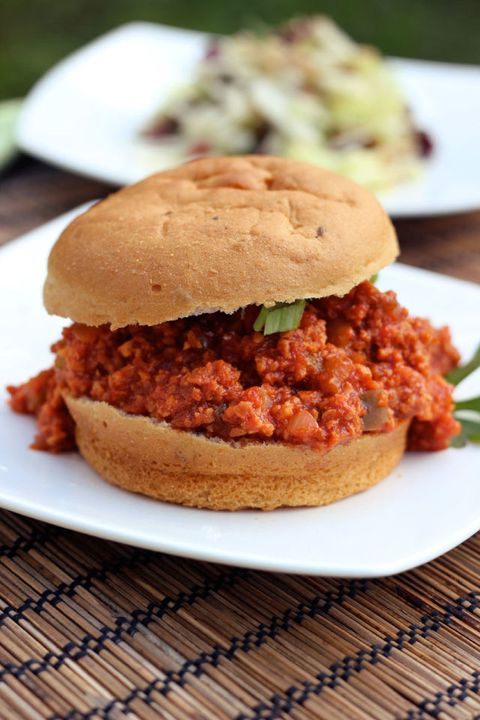 """<p>Finding a legitimately satisfying meat-substitute dish can be hard, but this updated sloppy Joe recipe breathes new life into the classic comfort food with added spices, sauces, and sugars. Liquid smoke and sriracha sauce, anyone?</p> <p>Get the recipe at <a href=""""http://tasty-yummies.com/2012/06/29/sloppy-joes-%E2%80%93-gluten-free-vegan/"""">Tasty Yummies</a>.</p>"""