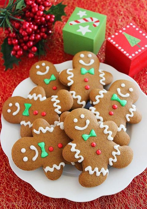 Is there anything more Christmas than adorable gingerbread men? Bonus: the spices in these cookies will fill your home with a warm and delicious aroma.