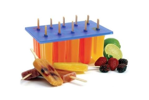 "<p>Try this sturdy ice pop maker ($22) if you're looking to make popsicles in a classic shape for a crowd. This mold is BPA-free and yields up to 10 popsicles at a time using wooden popsicle sticks. We appreciate this feature, as it can be a hassle to keep track of reusable plastic sticks, especially when making popsicles for a party. Bonus: thanks to its no-frills shape, this is an ideal mold to employ when making popsicles with inclusions such as these peach rice pudding pops. <a href=""http://www.amazon.com/gp/product/B000MMRNHE/ref=as_li_ss_tl?ie=UTF8&camp=1789&creative=390957&creativeASIN=B000MMRNHE&linkCode=as2&tag=wwwshopstylec-20&ascsubtag=970029504&tag=wwwshopstylec-20"" target=""_blank""><i>amazon.com</i></a></p>"