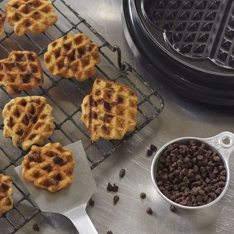 "<p>The portability of the waffle iron is key here: You can churn out warm cookies from anywhere with a working outlet.</p> <p><strong>Recipe: <a href=""http://www.delish.com/recipefinder/waffled-oatmeal-chocolate-chip-cookies-recipe-del0814"" target=""_blank"">Waffled Oatmeal Chocolate Chip Cookies</a></strong></p>"