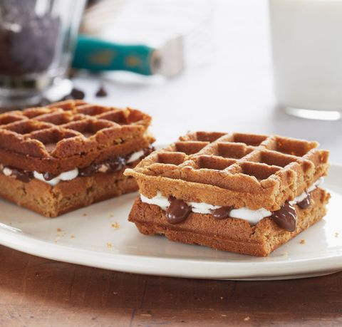 "<p>A true testament to determination, perseverance, and marshmallows.</p> <p><strong>Recipe: <a href=""http://www.delish.com/recipefinder/waffled-smores-recipe-del0814"" target=""_blank"">S'moreffles (Waffled S'mores)</a></strong></p>"