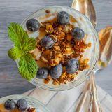 flax seed granola parfait