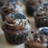 triple chocolate oreo buttercream cupcakes