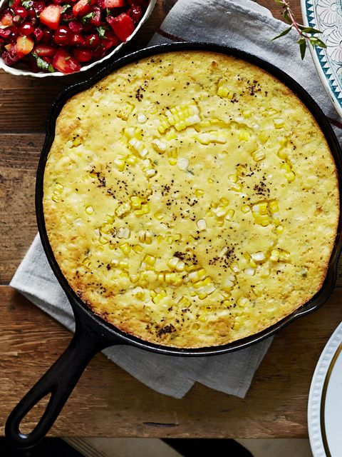 "<p>Spoonbread is a super-quick alternative to cornbread dressing — and it's easy enough for weeknights. Look for hatch chiles, prevalent in the Southwest, for a robust pepper flavor. Stir in 1 cup grated Cheddar for a richer cheesy dish.</p> <p><strong>Recipe: </strong><a href=""http://www.countryliving.com/recipefinder/jalapeno-green-chile-spoonbread-recipe-clx1114?click=recipe_sr"" target=""_blank"">Jalapeño-Green Chile Spoonbread</a></p>"