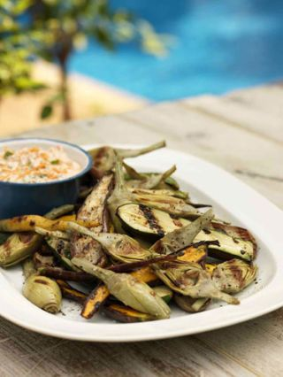 Grilled Vegetable Meze Platter
