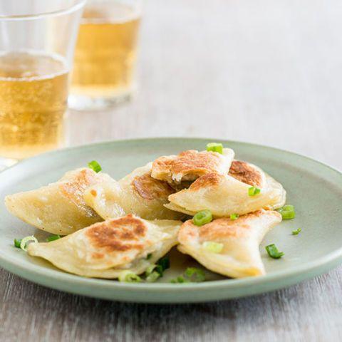 Seared Garlic Chicken Pierogi