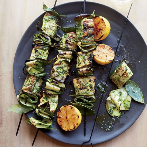 "<p>Chef Chad Colby uses fresh bay leaves on these fresh swordfish skewers, which imparts a lovely fragrance to the dish.</p><p><strong>Recipe:</strong> <a href=""http://www.delish.com/recipefinder/swordfish-skewers-salsa-verde-recipe-fw0314""><strong>Swordfish Skewers with Salsa Verde</strong></a></p>"