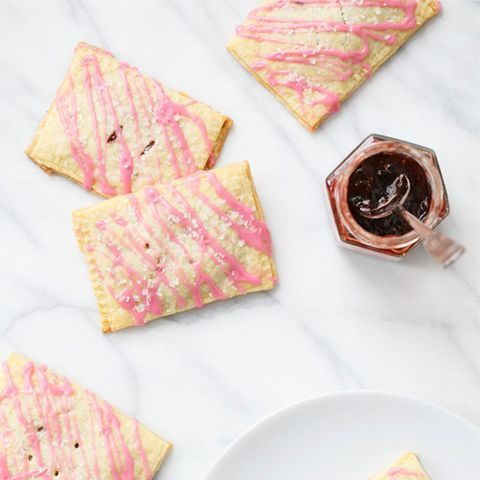 "a <br /><br /> Get the recipe from <a href=""http://www.loveandoliveoil.com/2014/03/strawberry-jam-toaster-pastries.html"" target=""_blank"">Love & Olive Oil</a>"