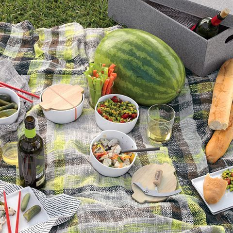 "<p>No picnic is complete without a picnic blanket—this handwoven cotton throw is big enough to share, and can also double as a stylish pashmina if it gets chilly.</p><p><em>($49.95; <a href=""%20http://www.cb2.com/urban-picnic-plaid-throw/s654185"" target=""_blank"">cb2.com</a>)</em></p>"