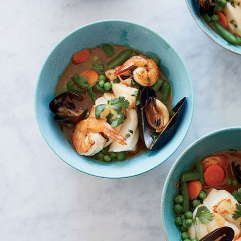 "<p>This lighter, brighter Thai-style curry is from health-conscious chef Rocco DiSpirito.</p><p><strong>Recipe:</strong> <a href=""http://www.delish.com/recipefinder/red-coconut-curry-seafood-mixed-vegetables-recipe-fw0714""><strong>Red Coconut Curry with Seafood and Mixed Vegetables </strong></a></p>"
