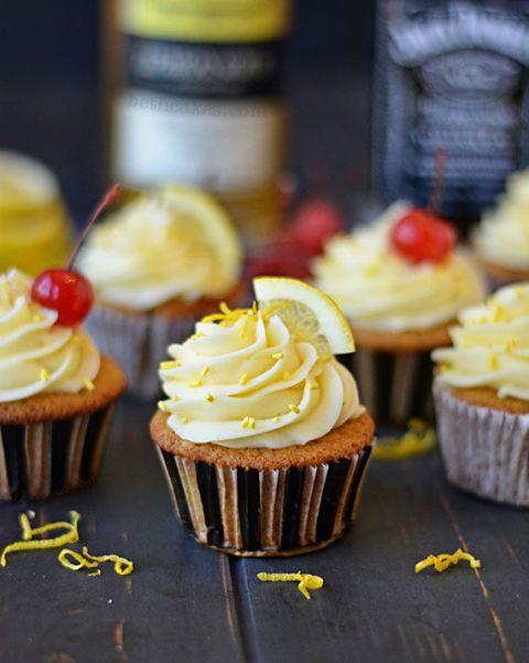 whiskey sour cupcakes