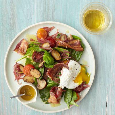 spinach salad bacon egg