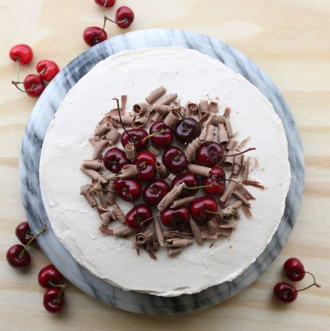 boozy cherry chocolate cake