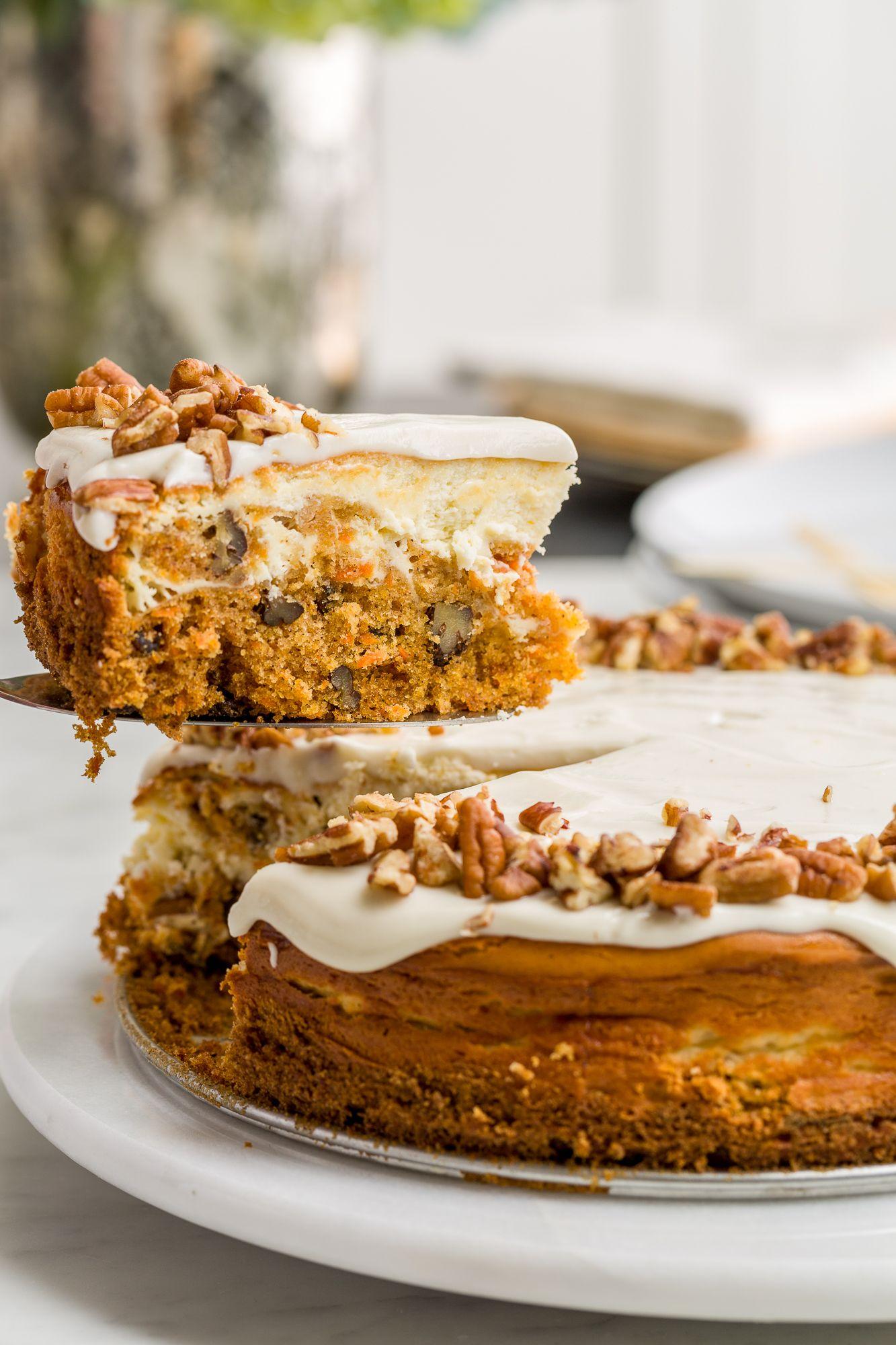 Best Carrot Cake Cheesecake Recipe How To Make Carrot Cake Cheesecake
