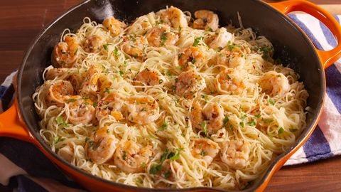 Best Garlic Butter Shrimp Pasta Recipe Easy Shrimp Dish With Angel Hair