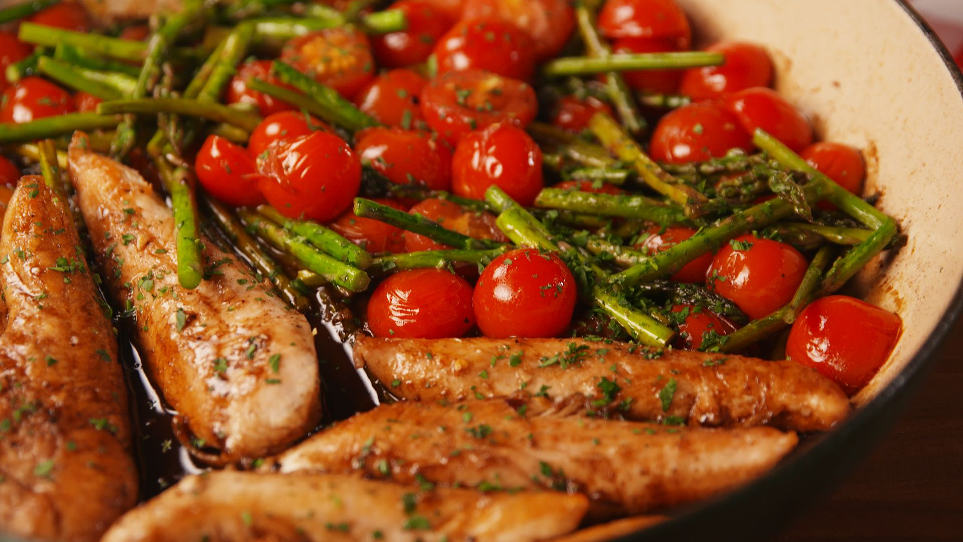One-Pan Balsamic Chicken and Asparagus