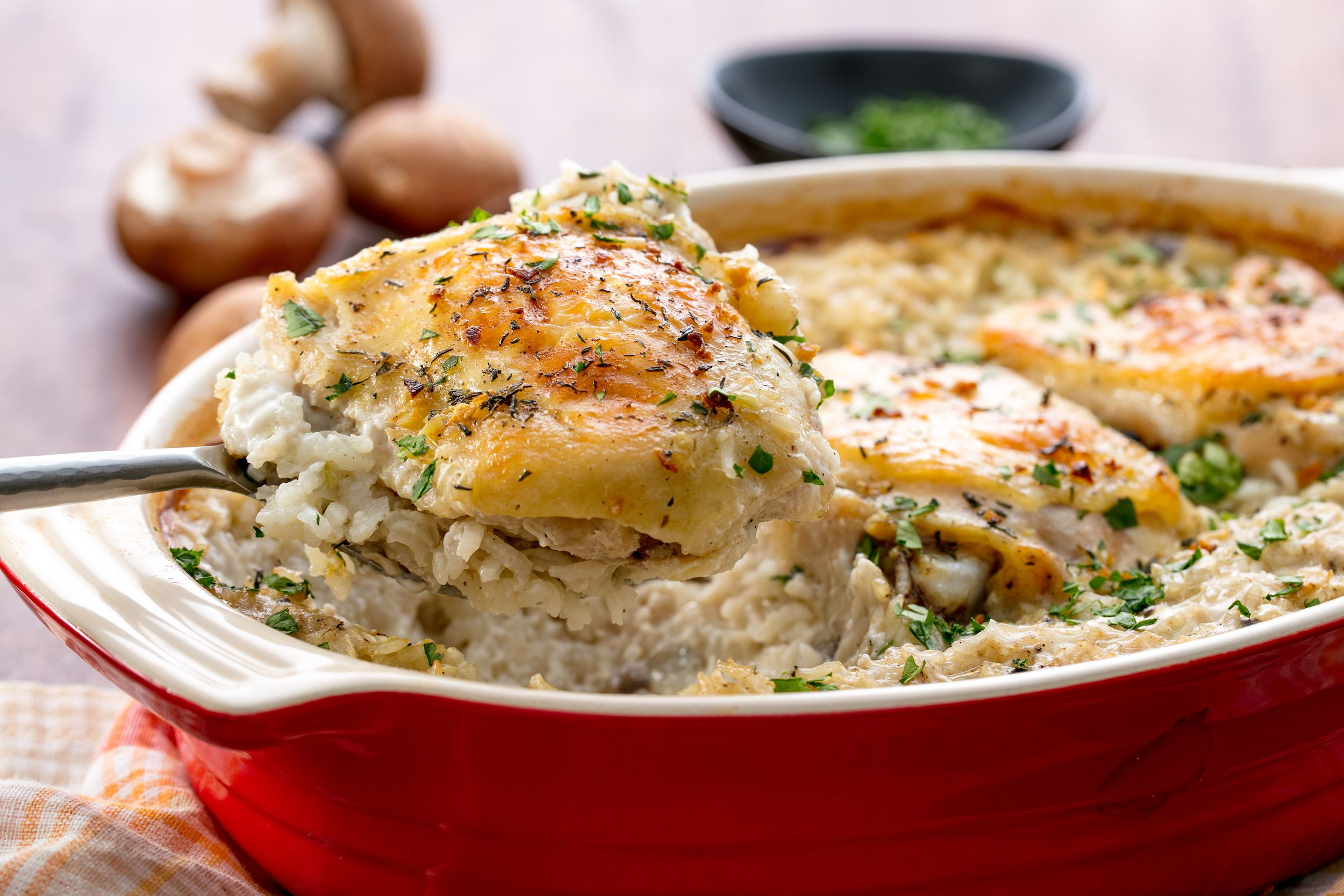 Easy Chicken And Rice Casserole Recipe How To Make Baked Chicken And Rice Casserole With Cream Of Mushroom Soup