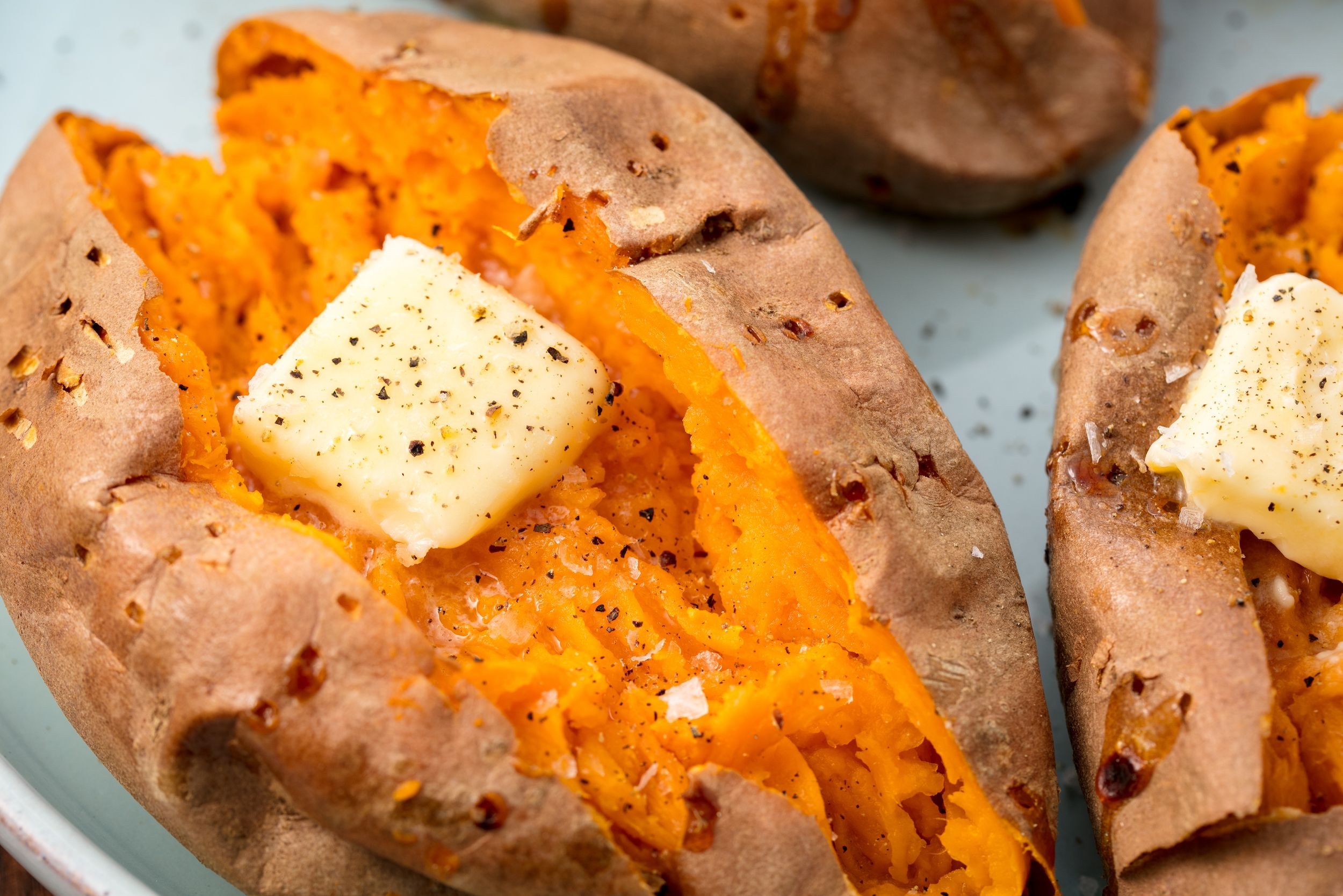 Best Baked Sweet Potato Recipe How To Bake Whole Sweet Potatoes In Oven