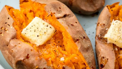 Best Baked Sweet Potato Recipe - How to Bake Whole Sweet Potatoes ...