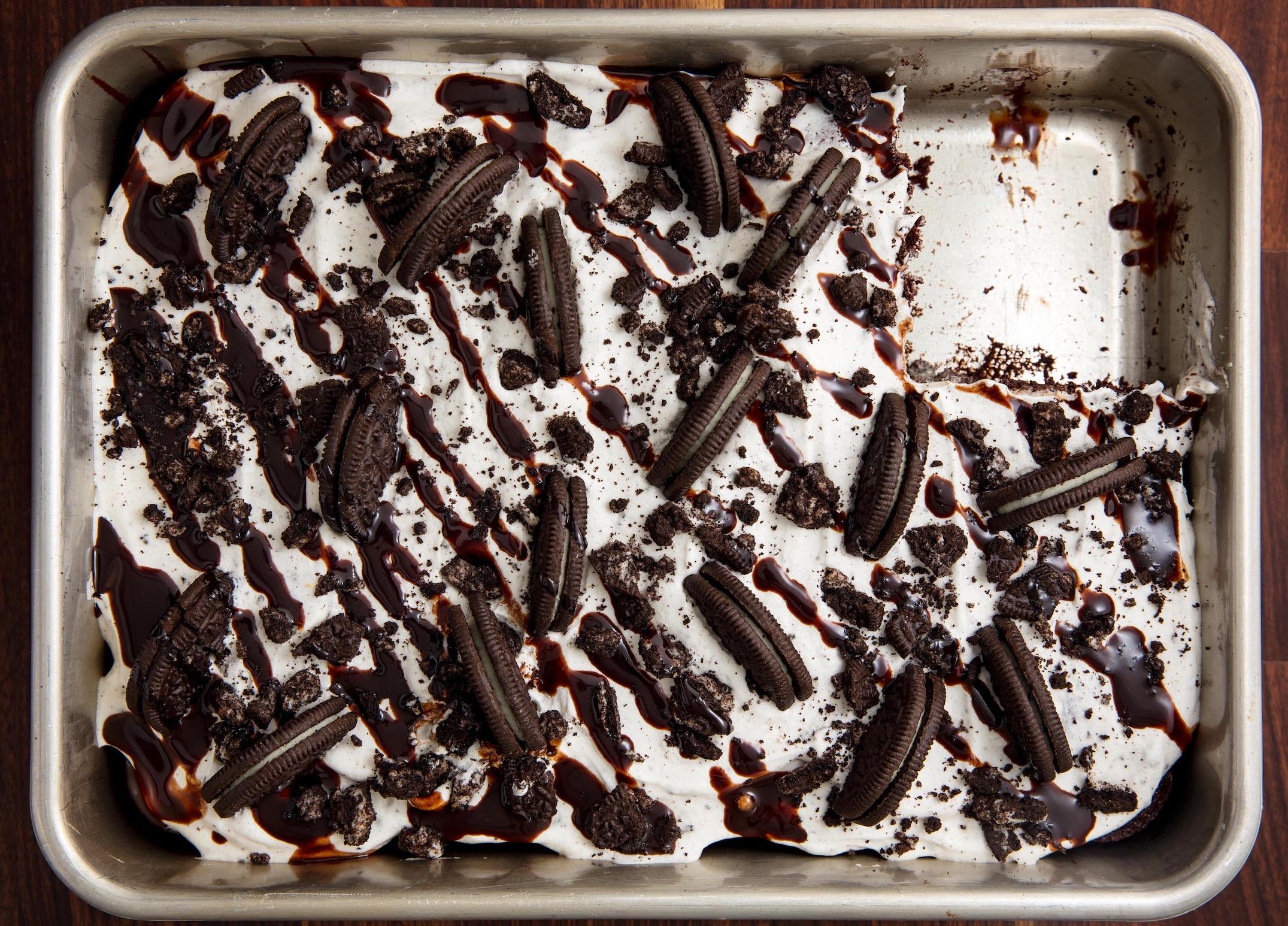 Oreogasm Poke Cake