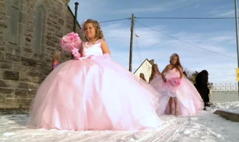 Clothing, Dress, Photograph, Gown, Pink, Happy, Formal wear, Bridal clothing, Purple, Beauty,
