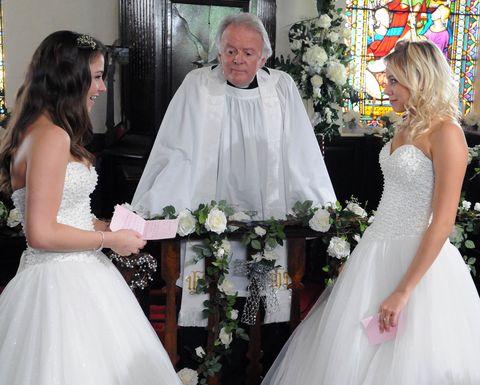 Clothing, Lighting, Dress, Bridal clothing, Event, Shoulder, Petal, Textile, Gown, Photograph,