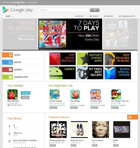 Google Play gift cards available in UK