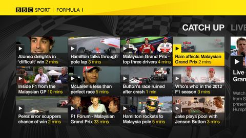 BBC Sport app launches on Virgin's TiVo