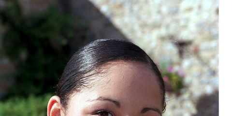Lip, Eye, Forehead, Eyebrow, Sleeveless shirt, Summer, Beauty, Active tank, Neck, Black hair,