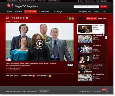 Virgin Media launches TV Anywhere