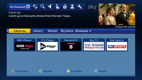Sky+ guide launches catch-up TV section