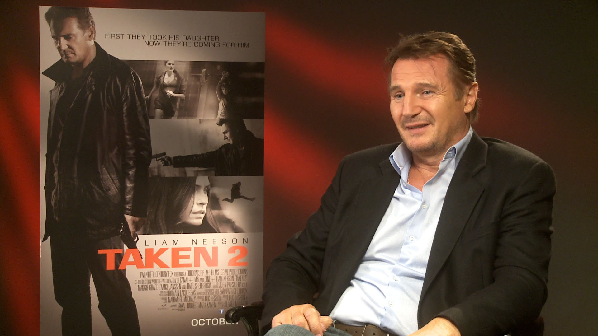 Liam Neeson talks 'Taken 2' - video