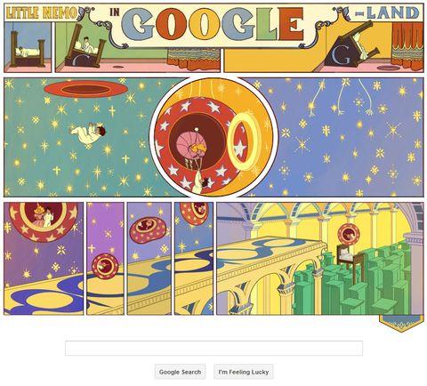 Google doodle celebrates 'Little Nemo'