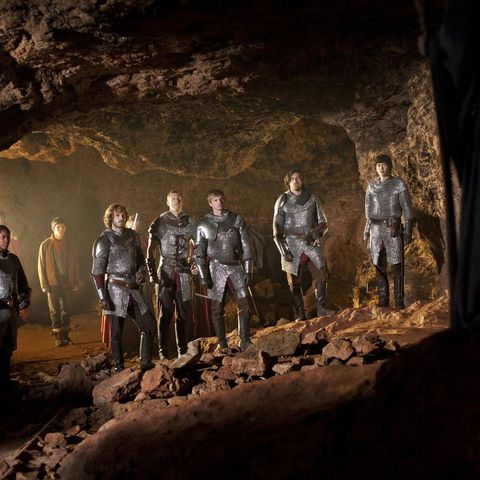 Social group, Darkness, Geology, Formation, Adventure, Workwear, Curtain, Crew, Cave,