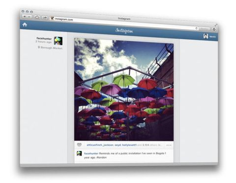 Instagram launches web-based photo feed