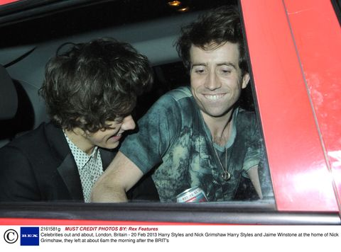 Harry Styles parties hard after Brits