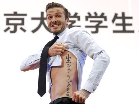 David Beckham S Tattoos In Pictures